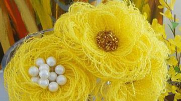 Красиво цвете от зебло