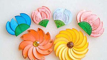 Да си направим цветя от цветна хартия