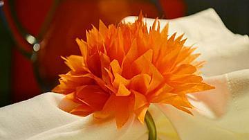 Нежни цветя от салфетки