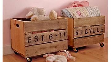 Да превърнем касетката в кош за играчки или декоративно шкафче