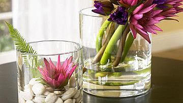 Страхотни идеи за декорация на дома от стъкло и естествени материали