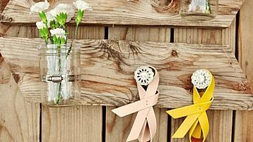 Дървена декорация за стена в натурален селски стил