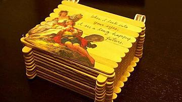 Декоративна кутийка от сладоледени клечки