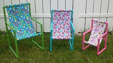Симпатични детски столчета от ПВЦ тръби