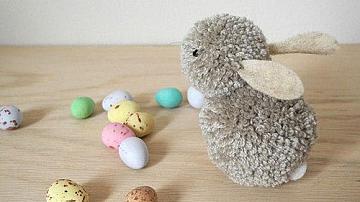 Великденско зайче от помпони