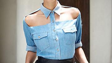 Лесно преправяне на джинсова (',дънкова) риза