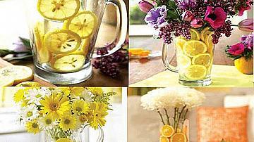 Ефектна украсена ваза с цитрусови плодове