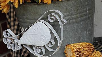 Идеи за есенна декорация на камини