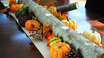 Есенна декорация със свещи