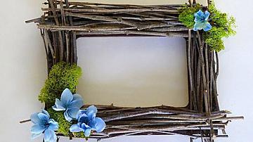 Да си направим фото рамка от клонки в стил Рустик