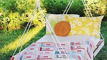 Хамак от палети за градината