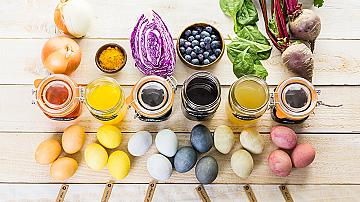 Как да боядисаме яйцата с естествени бои - 11 идеи