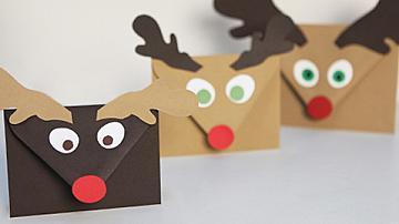 Коледен плик за картичка във вид на елен