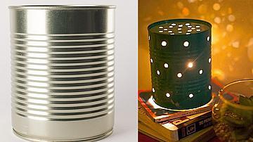 Ефектна лампа от метална кутия