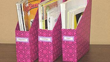 Да си направим красиви кутии за книги и списания