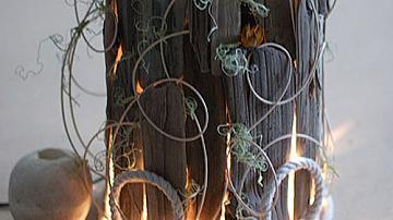 Да си направим лампа с пръчици събрани край морето