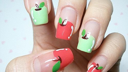 Да преобразим ноктите си с маникюр - ябълки