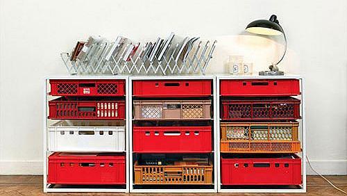 Лесни мебели от пластмасови касетки