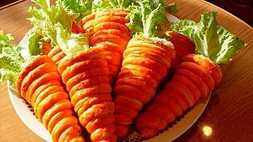 Морковчета от бутер тесто с пълнеж