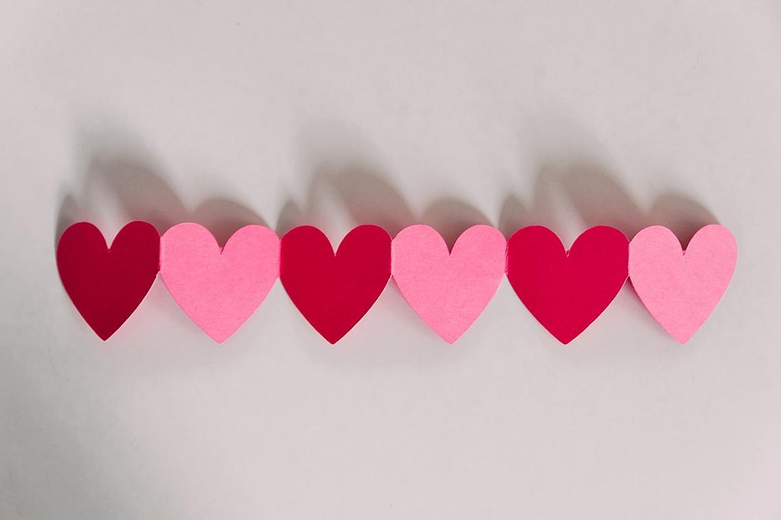 Folded heart strand