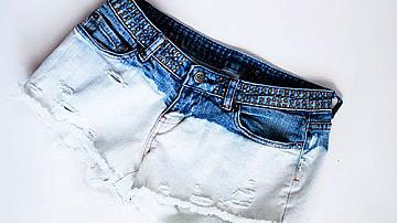 Избелени къси панталонки от стари джинси