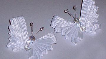 Как да си направим красива пеперуда от панделка