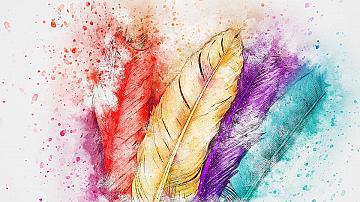 Птичи пера като декоративен елемент в интериора