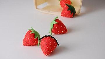 Как да си направите ягоди от филц