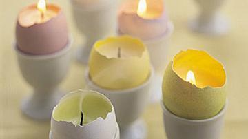 Великденска свещ от черупка на яйце