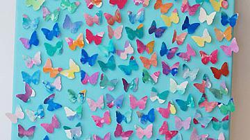 Да си направим пано с разноцветни пеперуди от хартия
