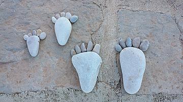Идеи за декорация с речни камъни