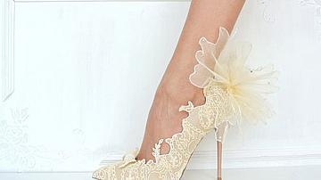 Ръчно направени сватбени обувки