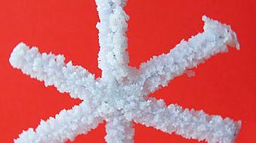 Красиви снежинки от солени кристалчета