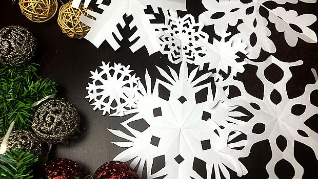 Идеи как да си направите снежинки от хартия
