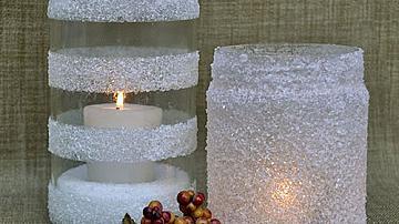 Как да си направим снежни свещници