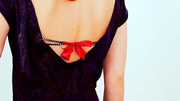 Как да си направим сутиен за блуза или рокля с отворен гръб
