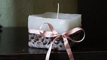Как да си направим свещ с кафени зърна