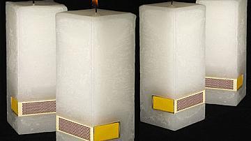 Направете си свещ с вграден кибрит