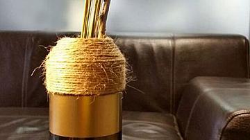 Как се прави ваза от винена бутилка