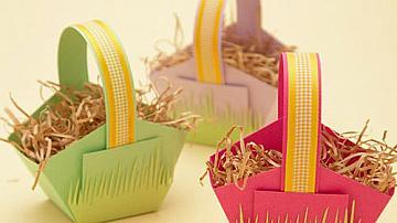 Великденски кошнички за яйца от хартия