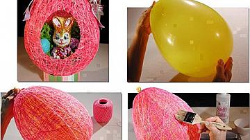 Великденско яйце от конци