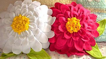 Как да си направим възглавничка цвете за 8-ми март