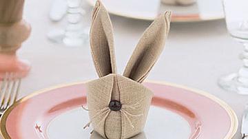 Весели великденски зайчета от салфетки