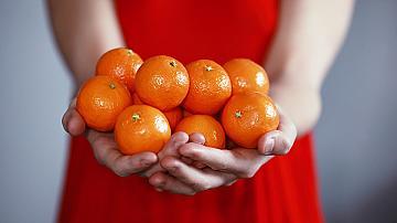 Лесна елхичка от мандарини за празничната трапеза